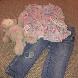 Children's Place Jeans and Cute spring shirt